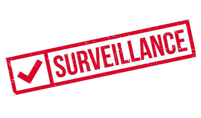 Sello de goma de la vigilancia stock de ilustración