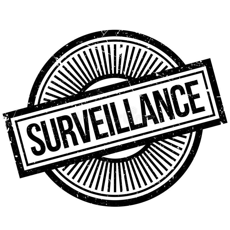 Sello de goma de la vigilancia ilustración del vector
