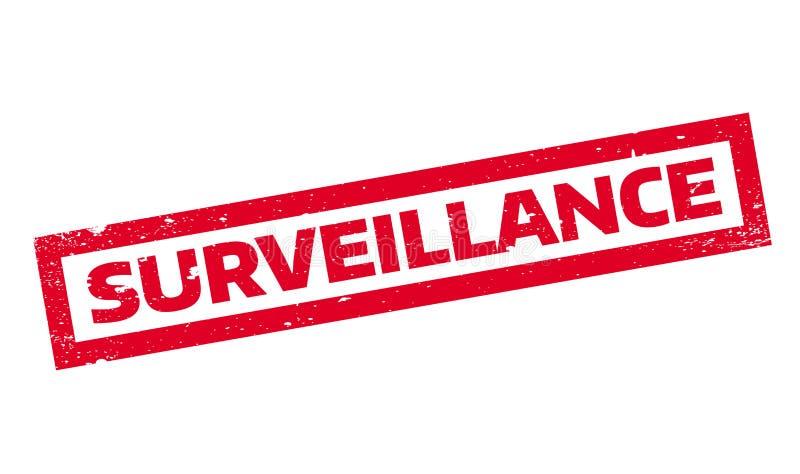 Sello de goma de la vigilancia libre illustration