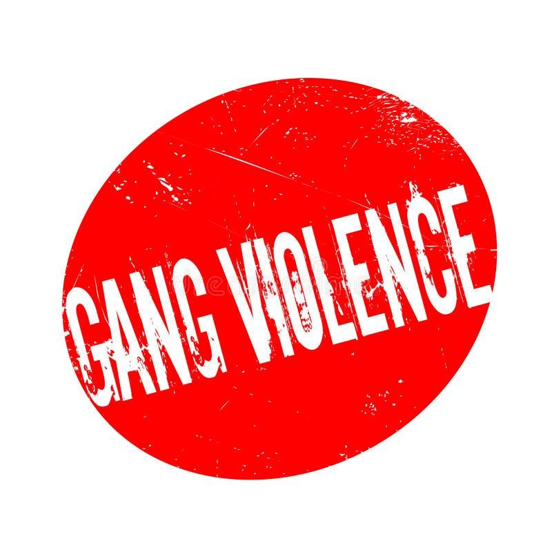 Sello de goma de la violencia de la cuadrilla libre illustration