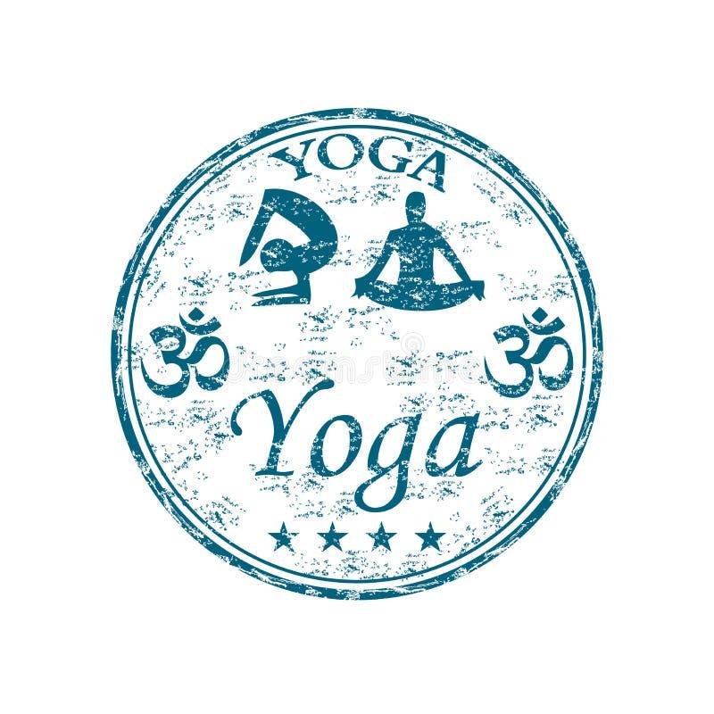 Sello de goma de la yoga ilustración del vector