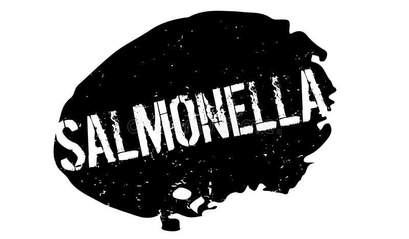 Sello de goma de las salmonelas stock de ilustración