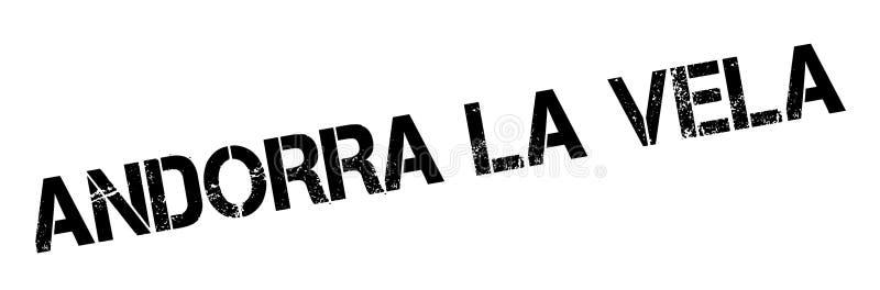 Sello de goma de los velos del La de Andorra ilustración del vector