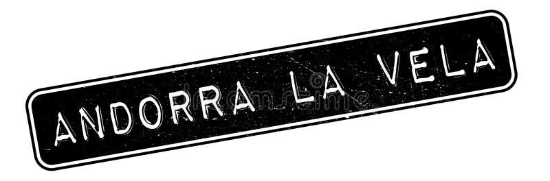 Sello de goma de los velos del La de Andorra libre illustration