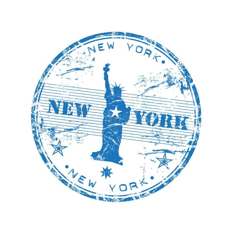 Sello de goma de Nueva York stock de ilustración