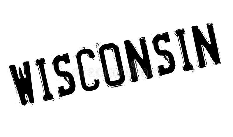 Sello de goma de Wisconsin stock de ilustración