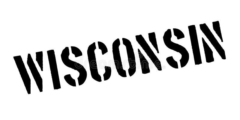 Sello de goma de Wisconsin libre illustration