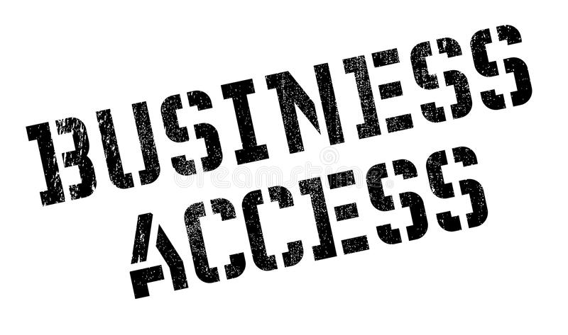 Sello de goma del acceso del negocio foto de archivo libre de regalías