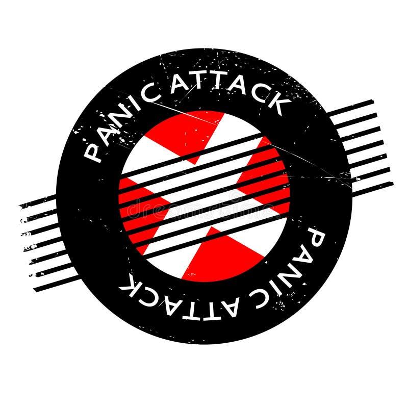 Sello de goma del ataque de pánico ilustración del vector