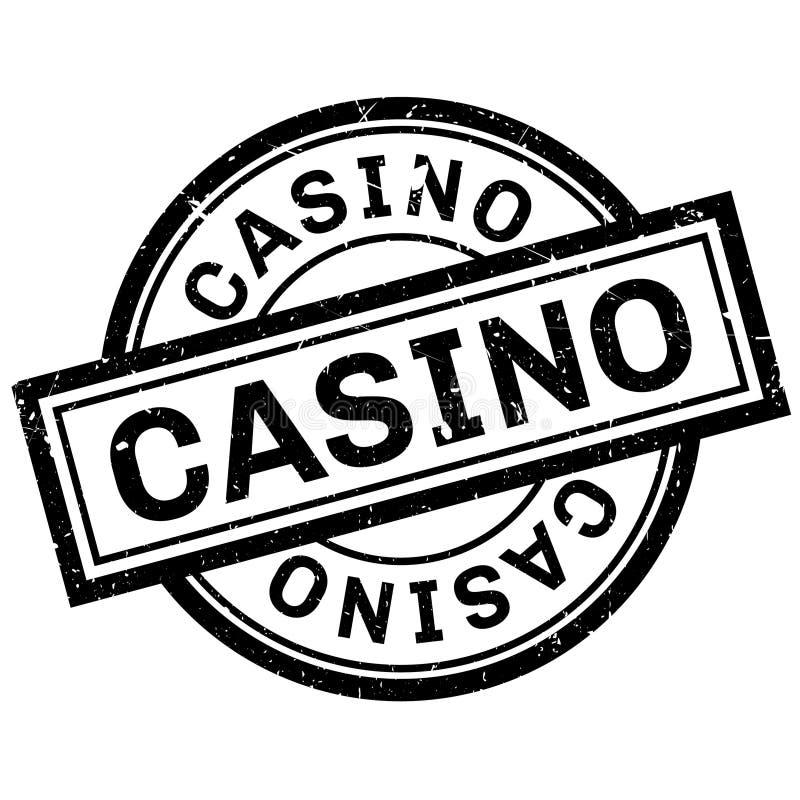 Sello de goma del casino ilustración del vector