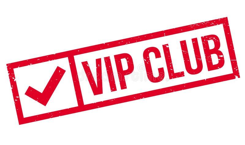 Sello de goma del club del Vip stock de ilustración