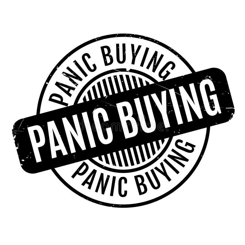 Sello de goma del comprar por pánico stock de ilustración