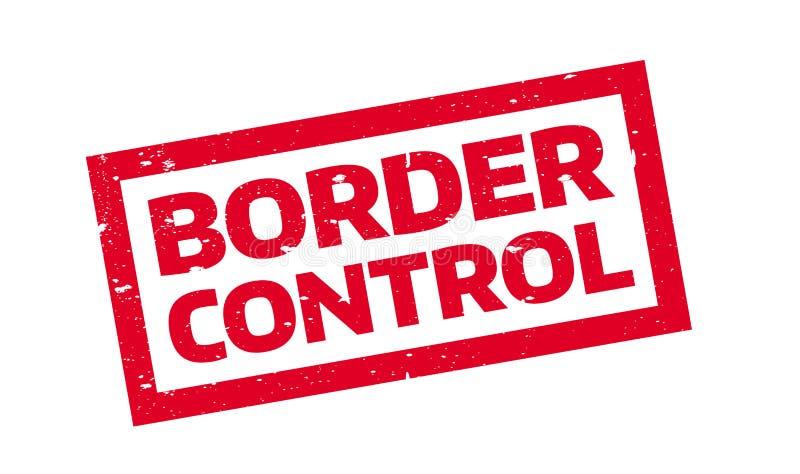 Sello de goma del control de fronteras ilustración del vector