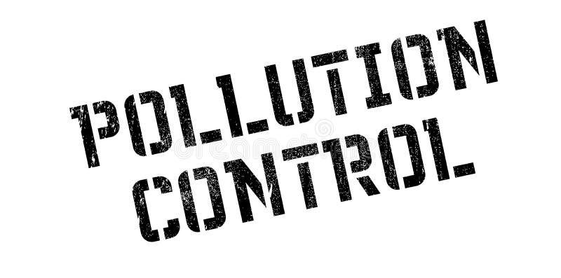 Sello De Goma Del Control De La Contaminación Stock de ilustración ...