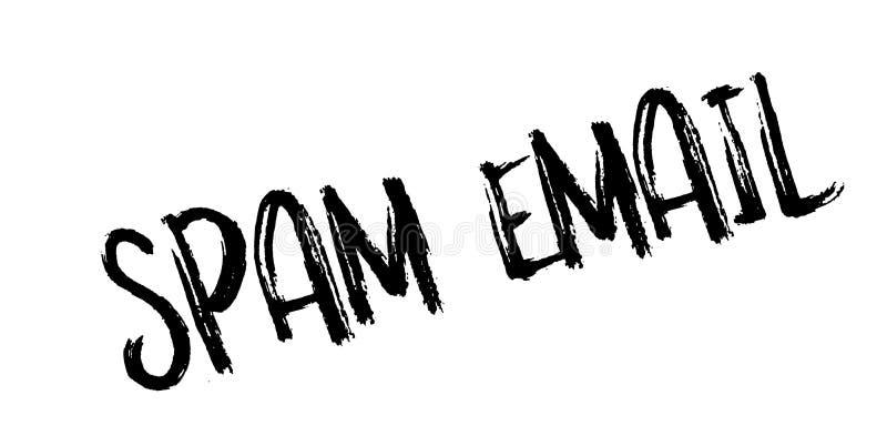 Sello de goma del correo electrónico del Spam ilustración del vector
