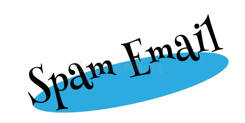 Sello de goma del correo electrónico del Spam stock de ilustración