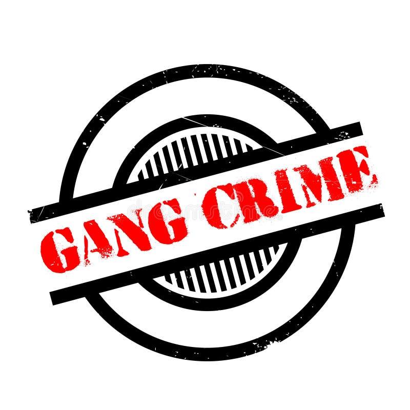 Sello de goma del crimen de la cuadrilla stock de ilustración