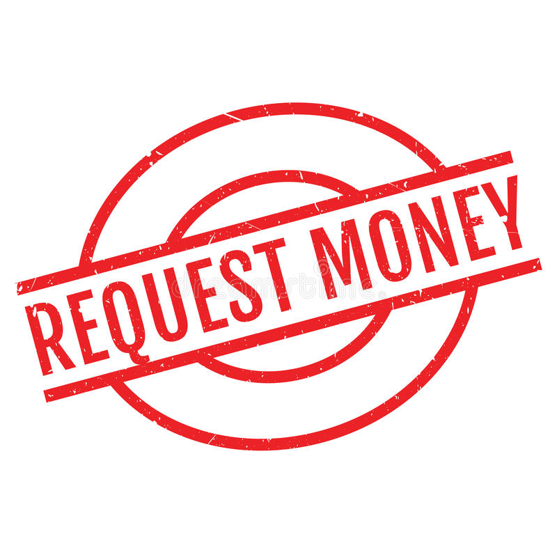 Sello de goma del dinero de la petición libre illustration