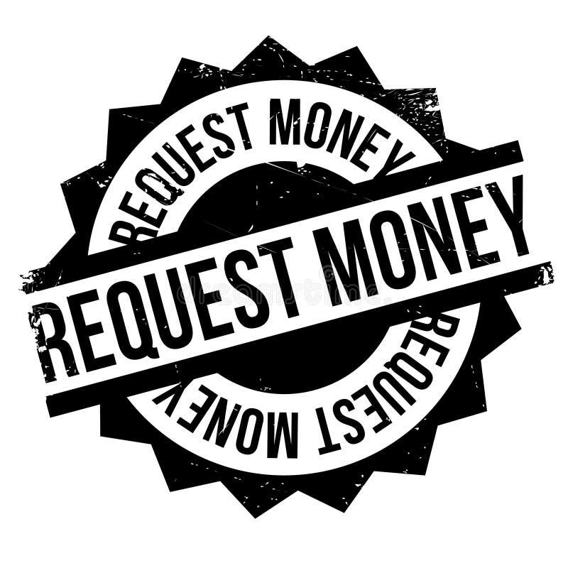 Sello de goma del dinero de la petición ilustración del vector