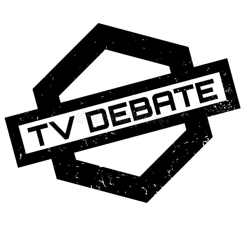 Sello de goma del discusión de la TV stock de ilustración
