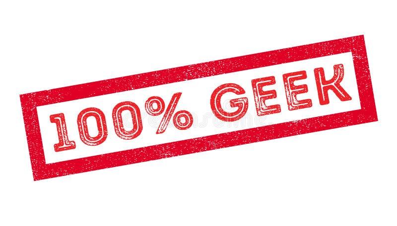 sello de goma del friki del 100 por ciento ilustración del vector