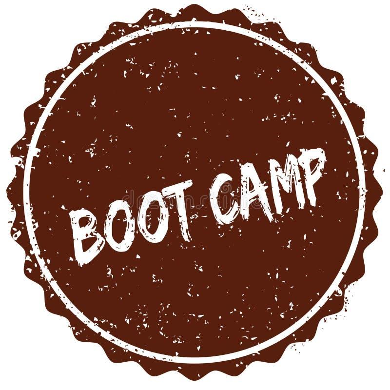 Sello de goma del Grunge con el texto BOOT CAMP escrito dentro del sello ilustración del vector
