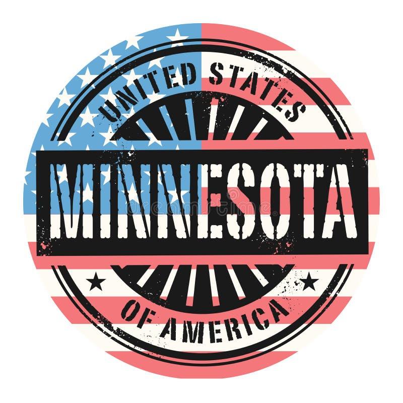 Sello de goma del Grunge con el texto los Estados Unidos de América, Minn stock de ilustración