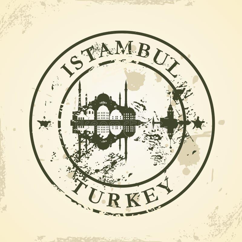 Sello de goma del Grunge con Istambul, Turquía ilustración del vector