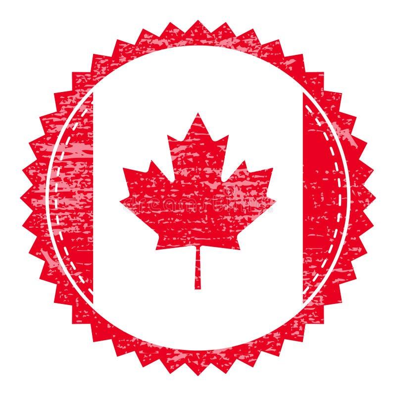 Sello de goma del Grunge con la bandera de Canadá Sello del viaje del vintage libre illustration