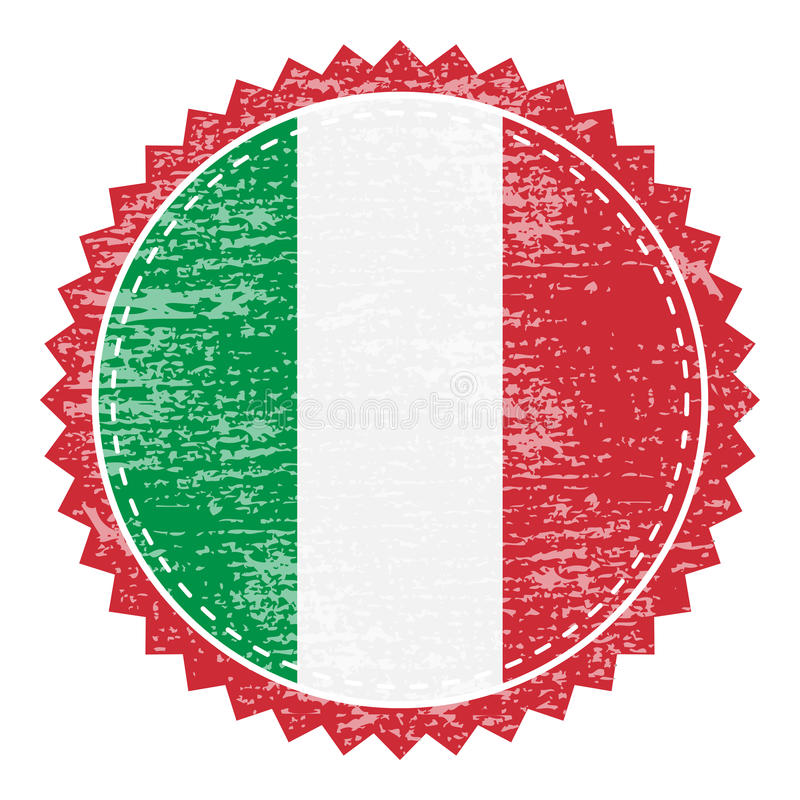Sello de goma del Grunge con la bandera de Italia Sello del viaje del vintage libre illustration