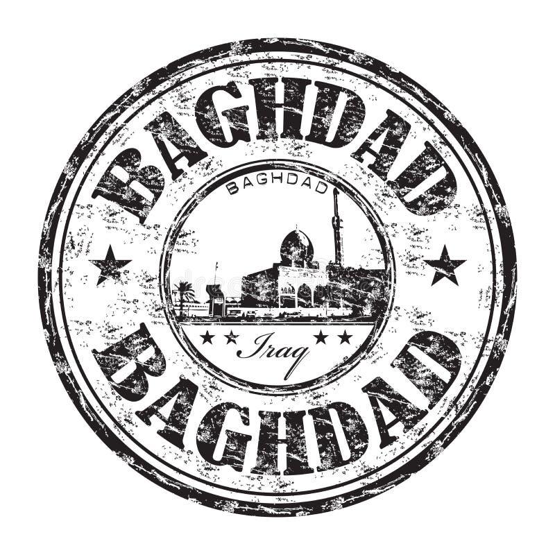 Sello de goma del grunge de Bagdad libre illustration
