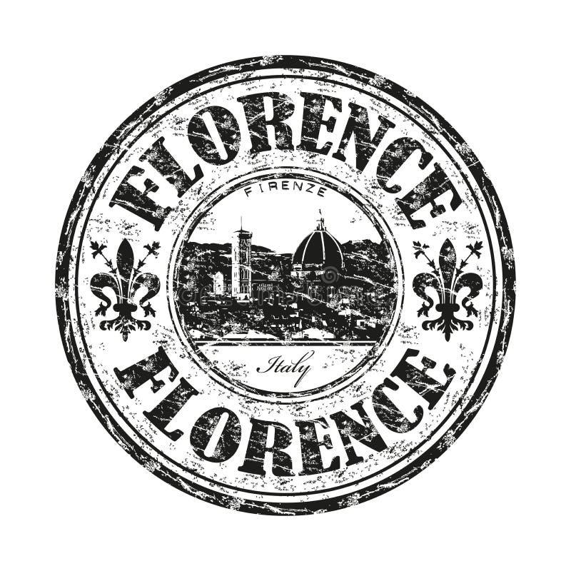 Sello de goma del grunge de Florencia ilustración del vector