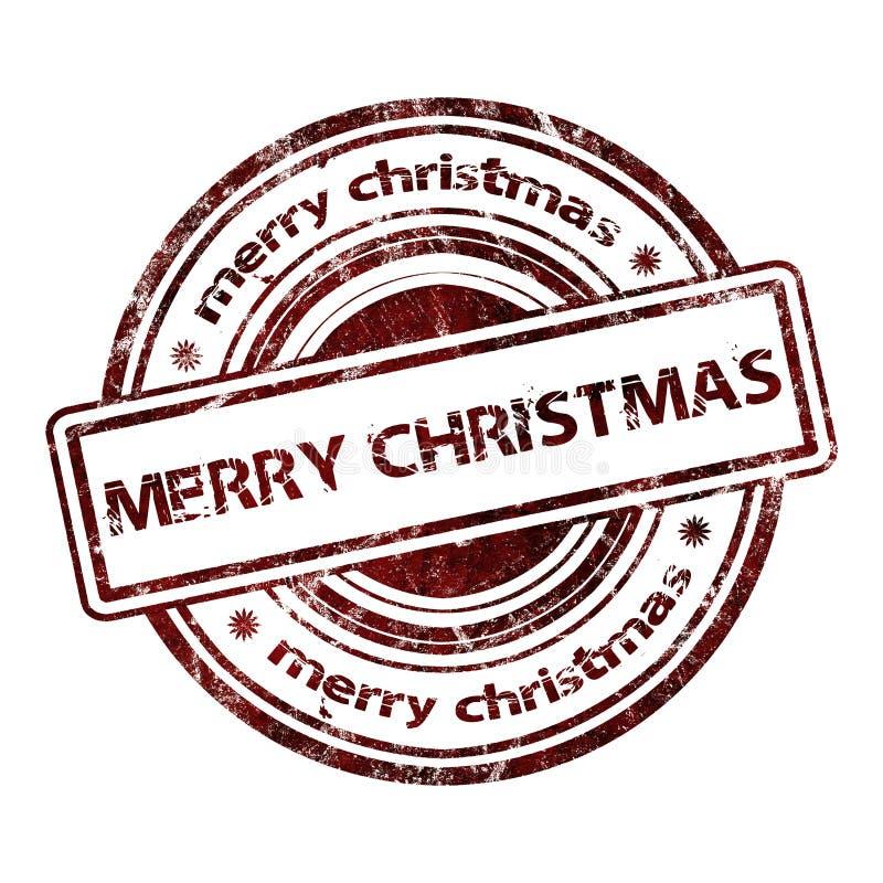 Sello de goma del Grunge de la Navidad ilustración del vector