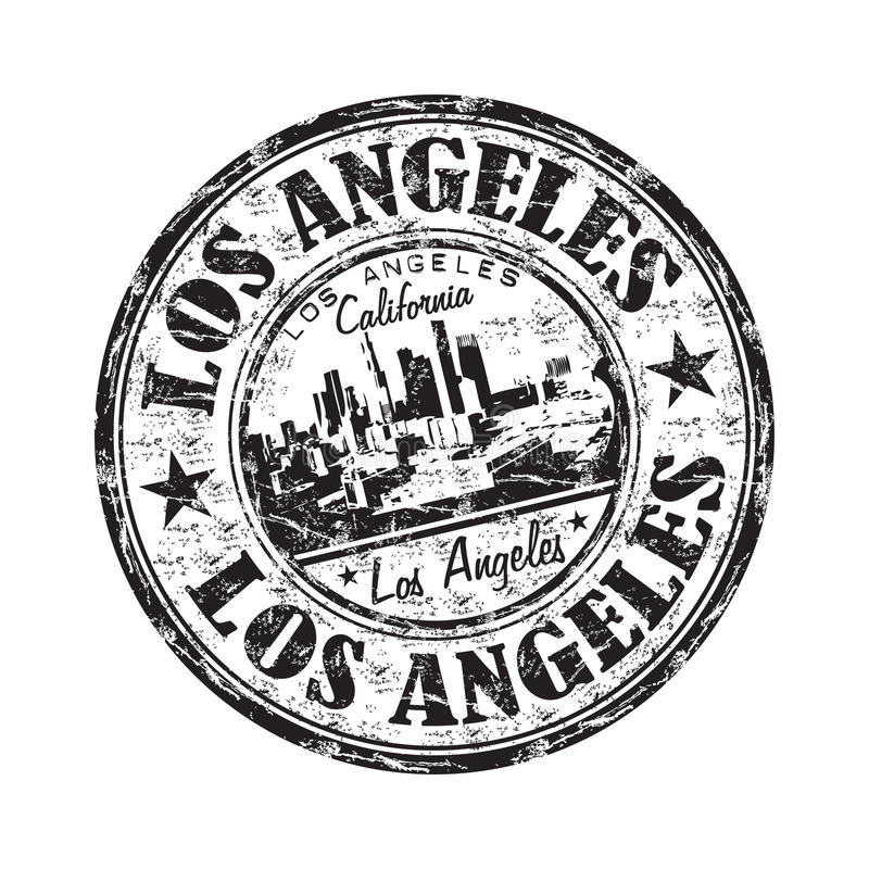 Sello de goma del grunge de Los Ángeles ilustración del vector