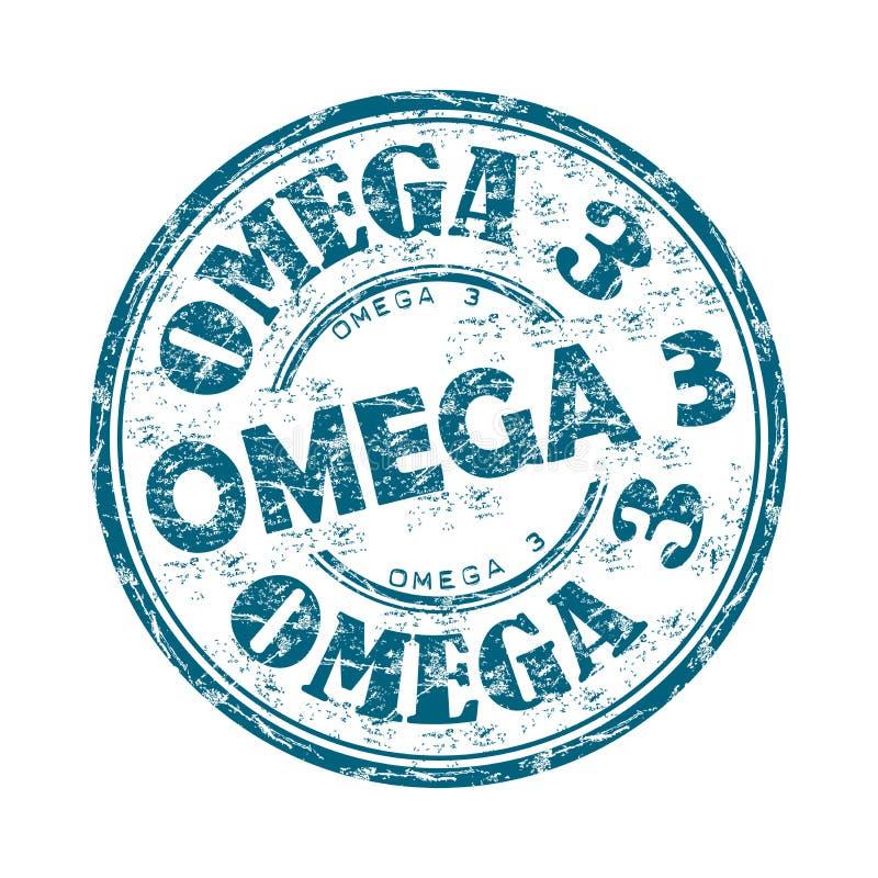 Sello de goma del grunge de Omega tres libre illustration