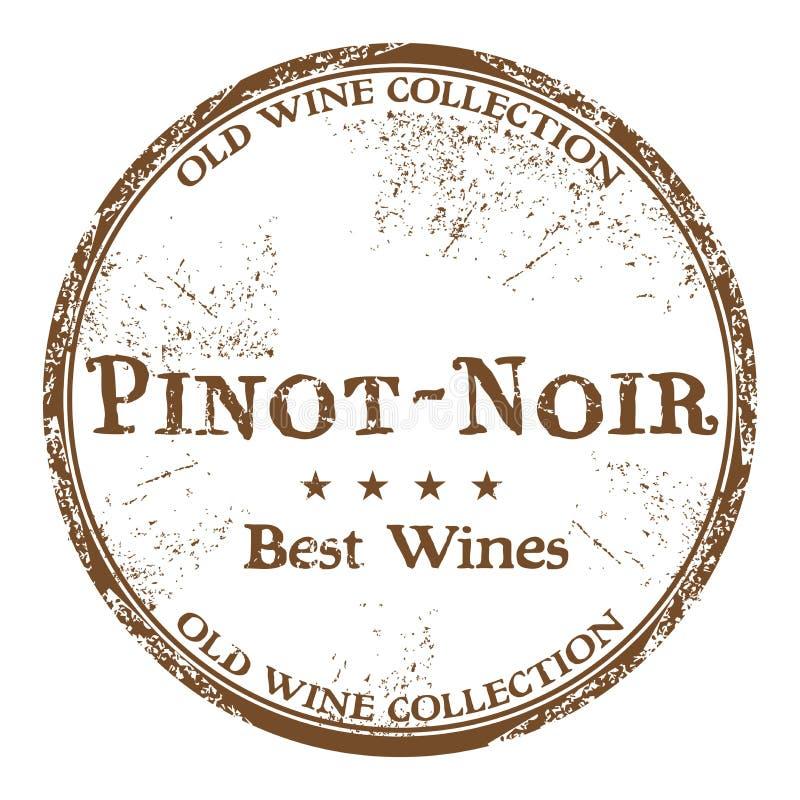 Sello de goma del grunge de Pinot Noir stock de ilustración
