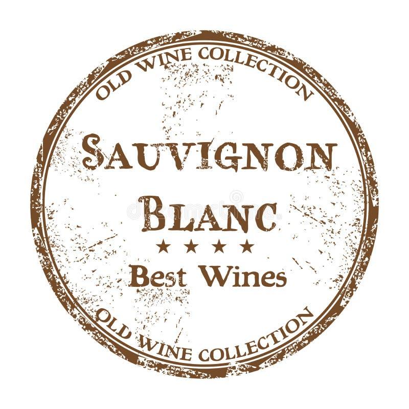 Sello de goma del grunge de Sauvignon Blanc stock de ilustración