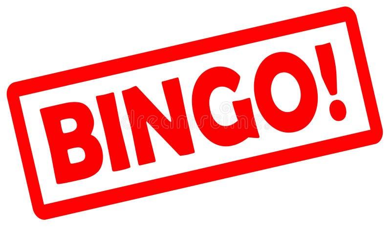 Sello de goma del grunge del bingo en el fondo blanco ilustración del vector