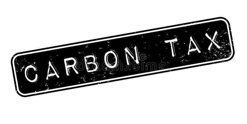 Sello de goma del impuesto del carbono ilustración del vector