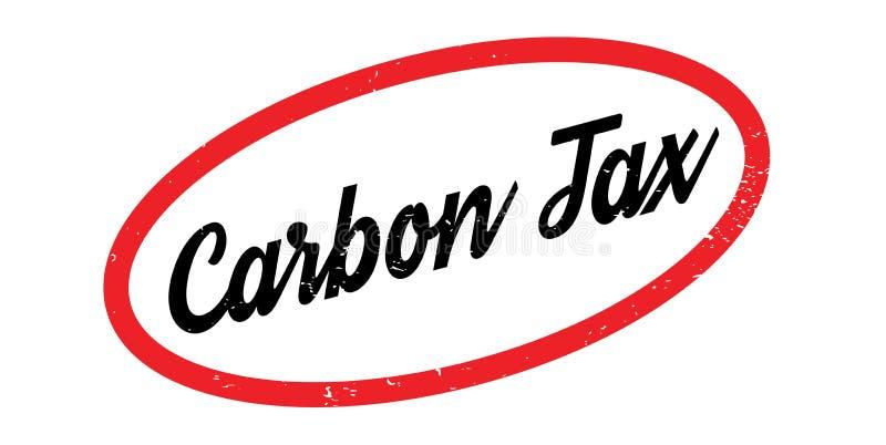 Sello de goma del impuesto del carbono libre illustration
