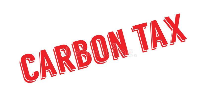 Sello de goma del impuesto del carbono stock de ilustración
