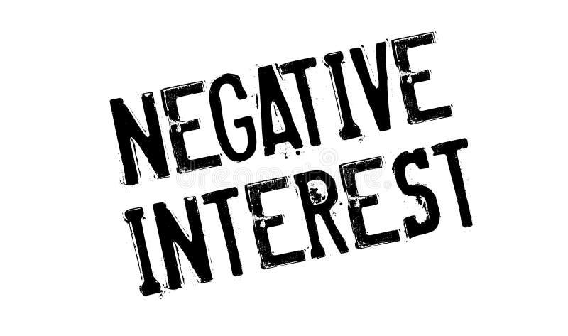 Sello de goma del interés negativo libre illustration