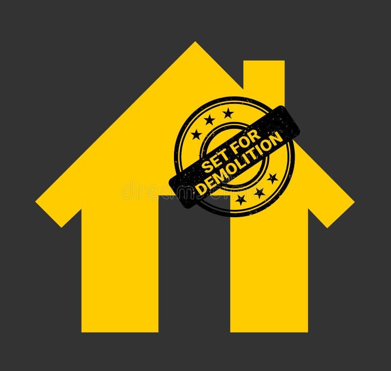 Sello de goma del orden de demolición ilustración del vector