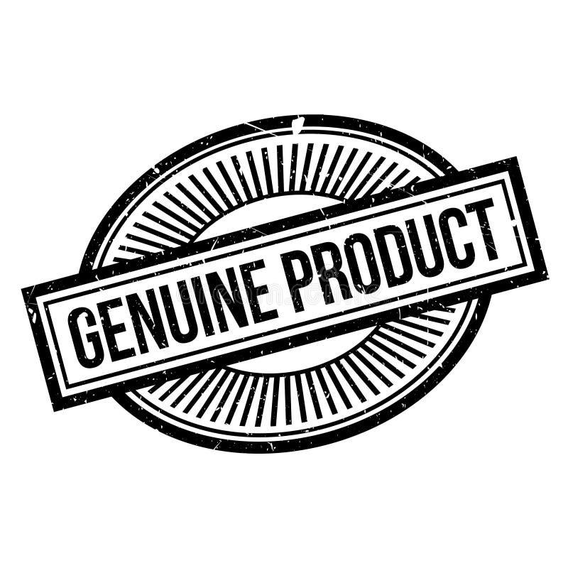 Sello de goma del producto auténtico stock de ilustración