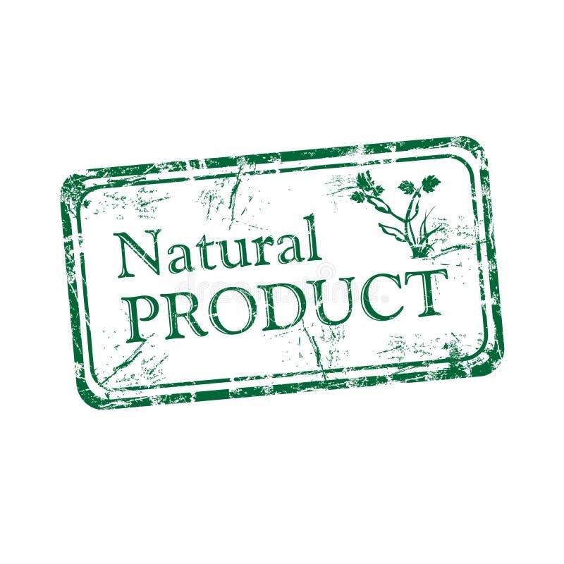 Sello de goma del producto natural ilustración del vector