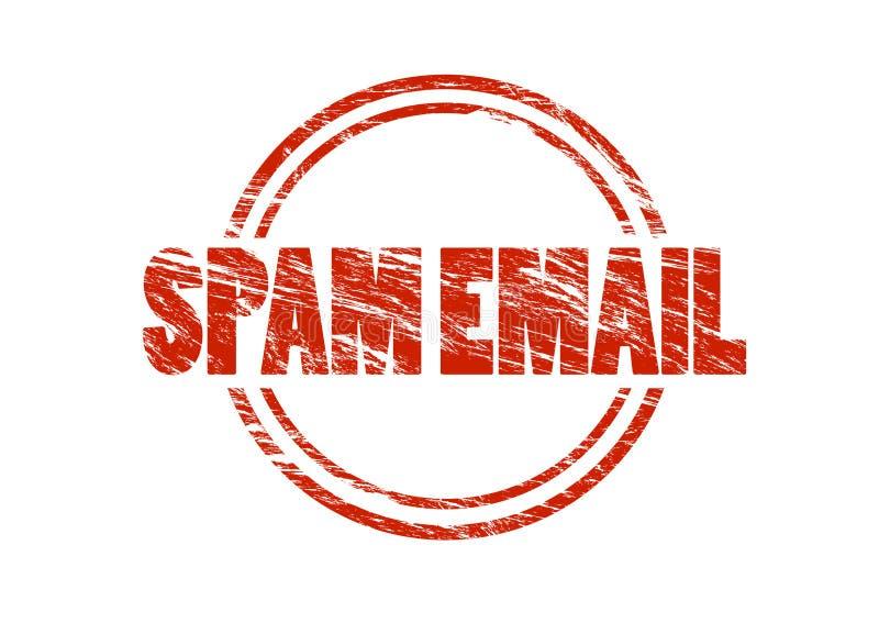 Sello de goma del rojo del correo electrónico del Spam libre illustration