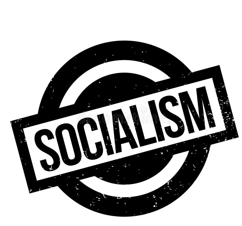Sello de goma del socialismo libre illustration