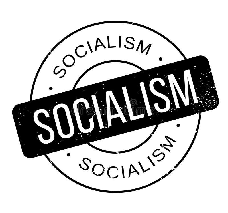Sello de goma del socialismo stock de ilustración