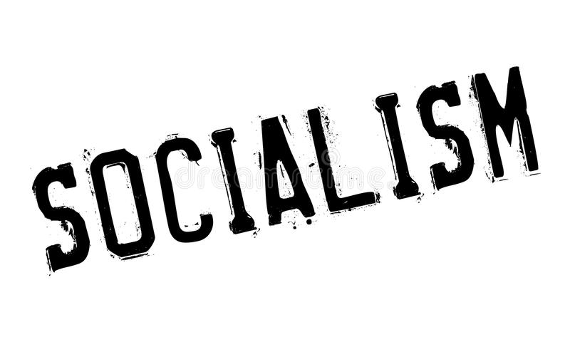 Sello de goma del socialismo ilustración del vector