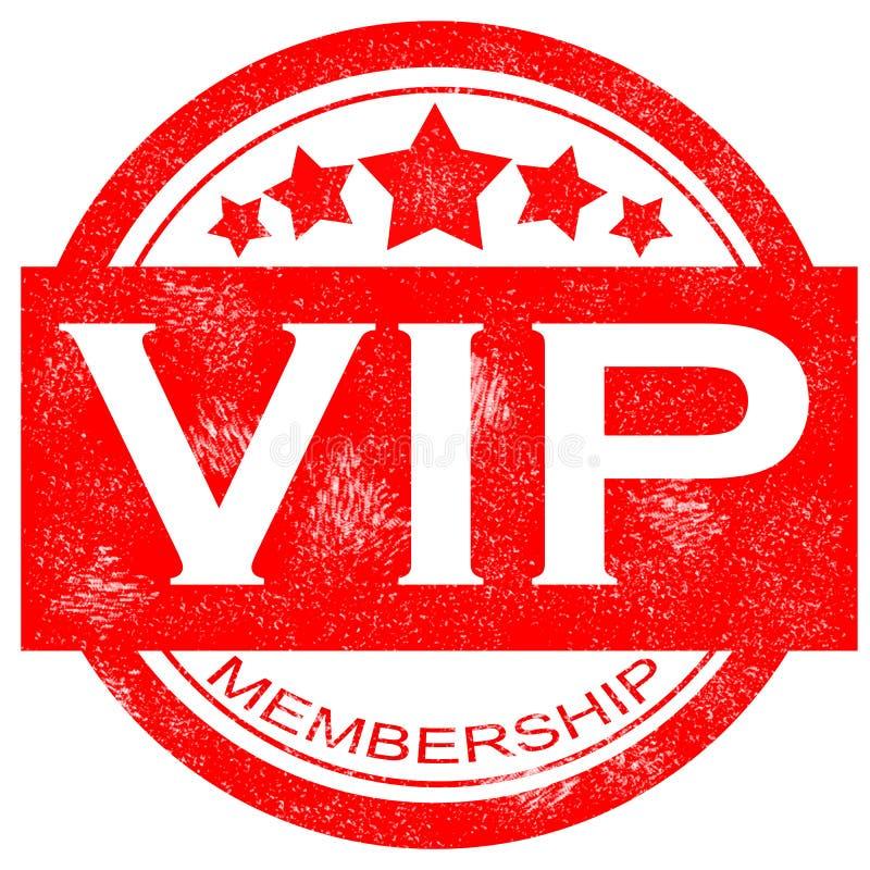 Sello de goma del vip de la calidad de miembro del Grunge en el fondo blanco ilustración del vector